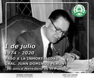 Fallecimiento de Juan Domingo Perón