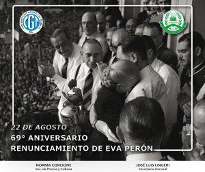 Aniversario del renunciamiento de Eva Perón