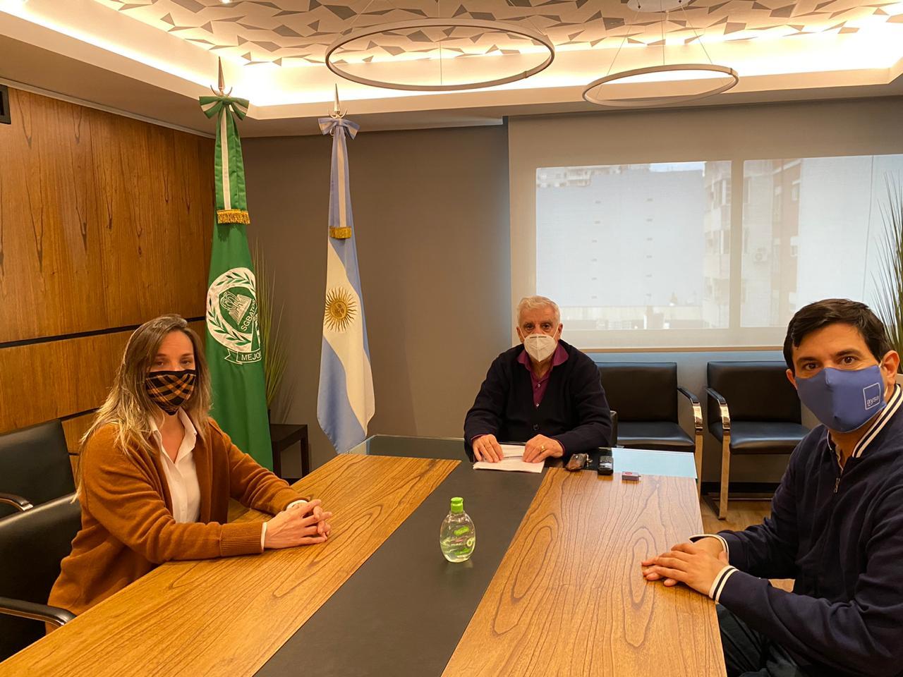 José Luis Lingeri se reunió con Malena Galmarini para analizar la situación actual de AySA
