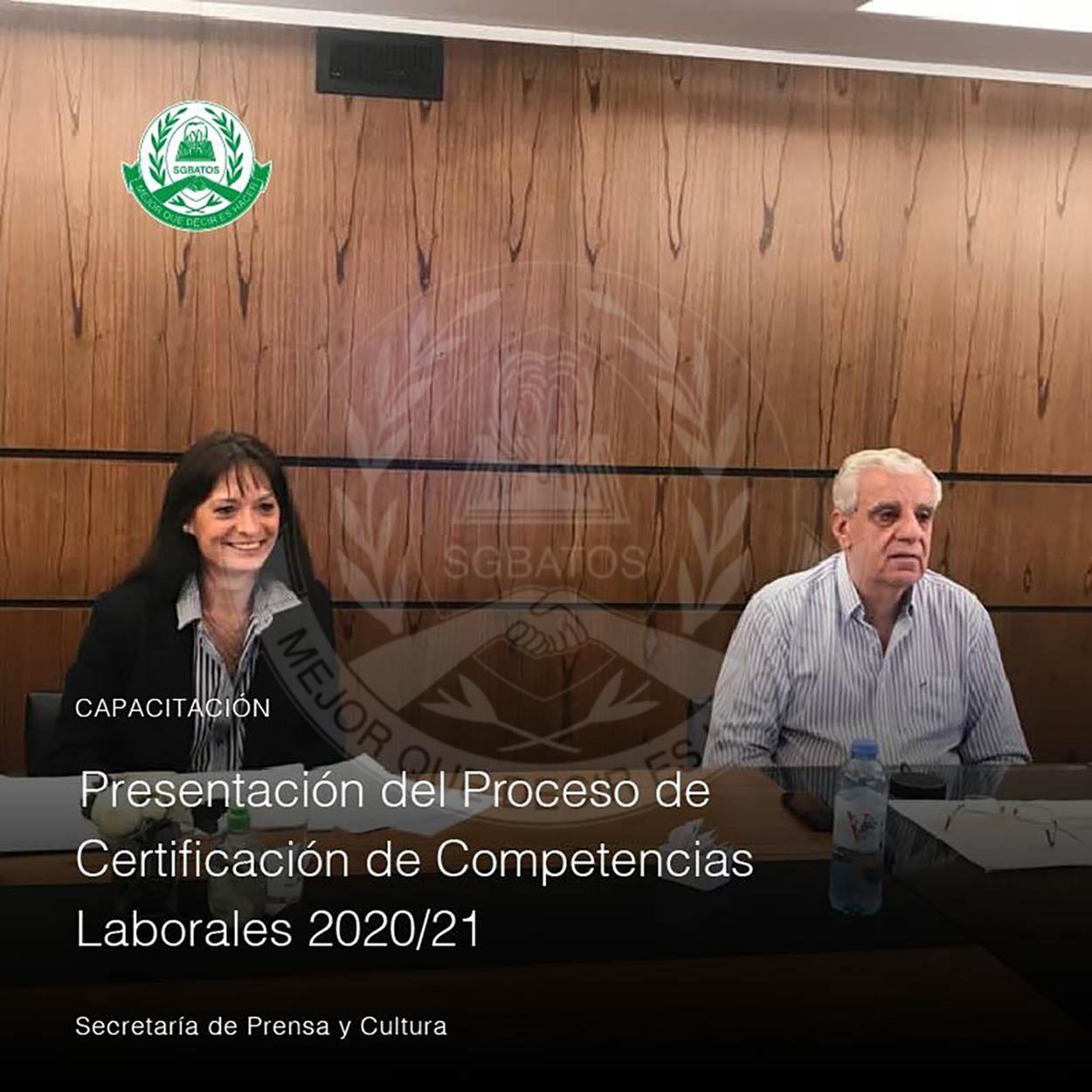 Presentación del Proceso de Certificación de Competencias Laborales 2020/2021