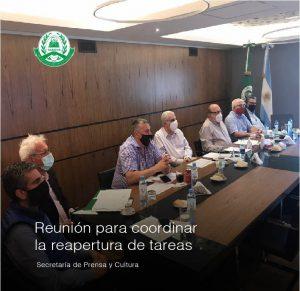 Reunión para la coordinación de la reapertura de tareas