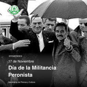17 de noviembre – Día de la Militancia Peronista