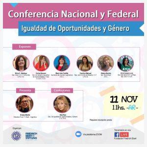 Conferencia Nacional y Federal « Igualdad de oportunidades y Género»