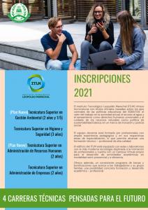 Abierta las preinscripciones para el ciclo 2021 del ITLM