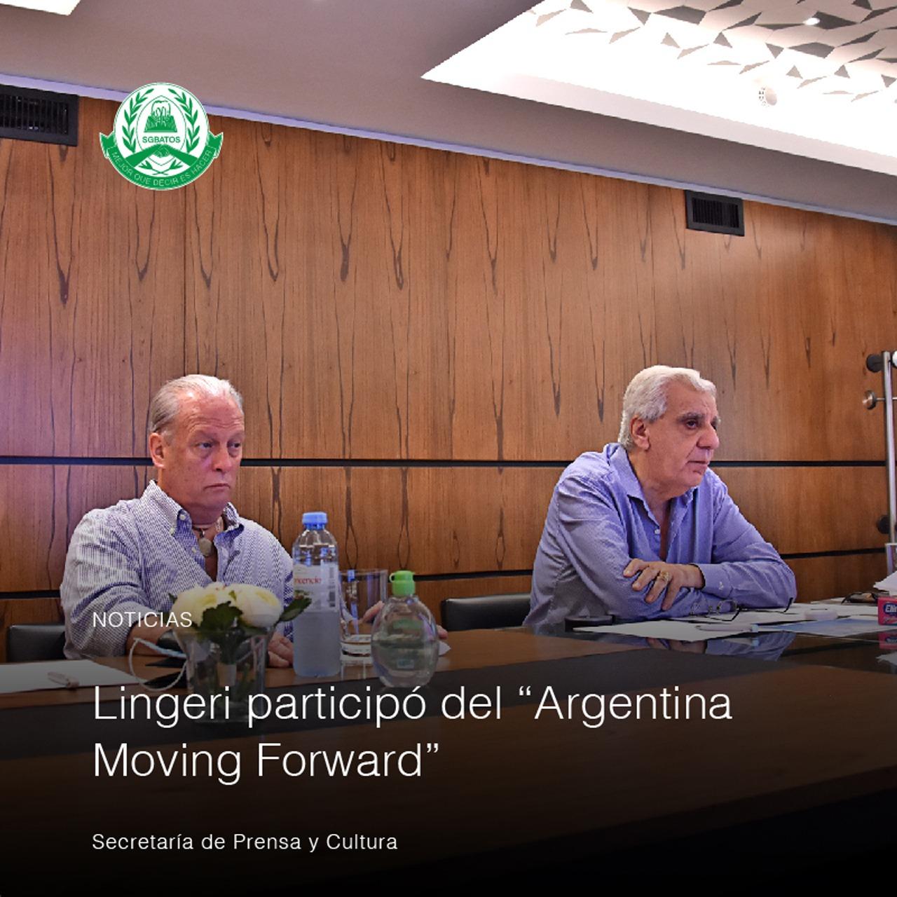 """Lingeri participó del """"Argentina Moving Forward"""""""