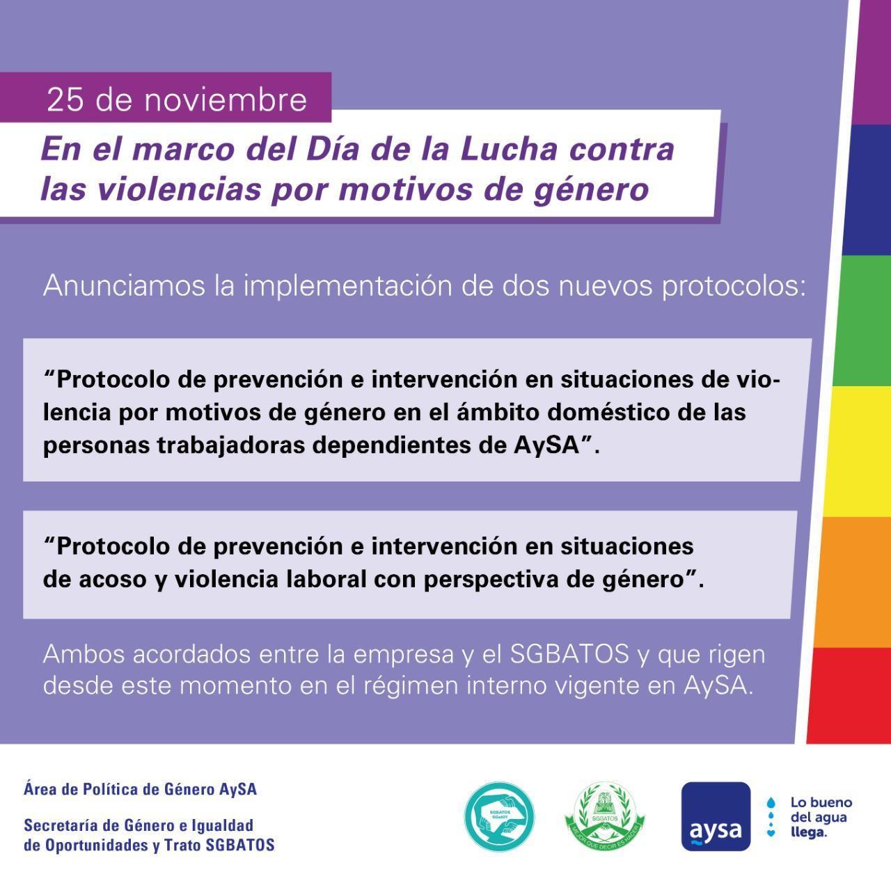 25 de Noviembre – Nuevos Protocolos y Derechos