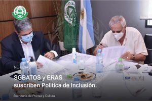 SGBATOS y ERAS suscriben Política de Inclusión