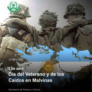 2 de abril – Día del Veterano y de los Caídos en Malvinas