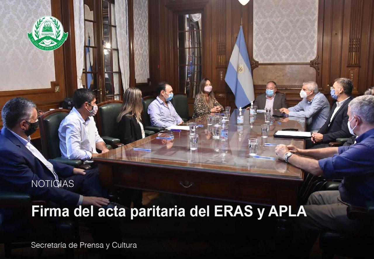 Firma del acta paritaria del ERAS y APLA