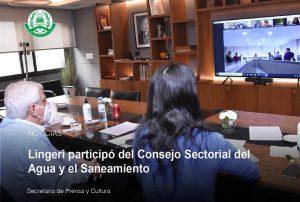 Lingeri participó del Consejo Sectorial del Agua y el Saneamiento