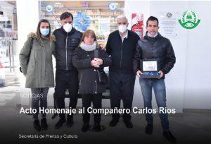 Acto homenaje al Cro. Carlos Ríos