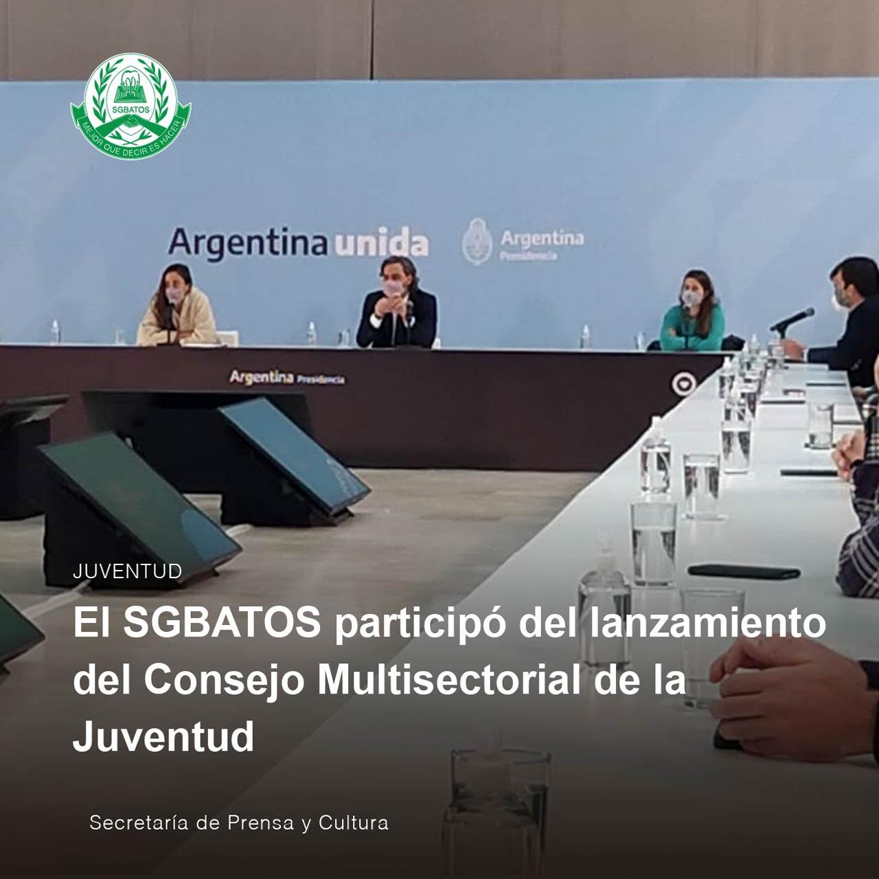 El SGBATOS participó del lanzamiento del Consejo Multisectorial de la Juventud