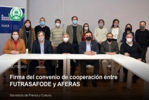 Lee más sobre el artículo Firma del convenio cooperación entre FUTRASAFODE y AFERAS