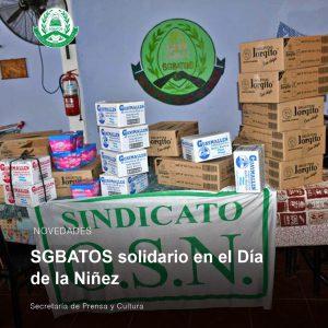 Lee más sobre el artículo SGBATOS solidario en el Día de la Niñez
