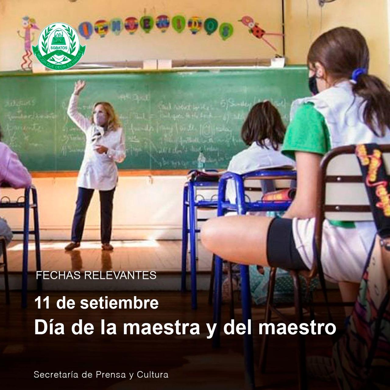 11 de septiembre – Día de la maestra y del maestro