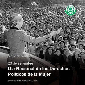 Lee más sobre el artículo 23 de septiembre – Día Nacional de los Derechos Políticos de la Mujer