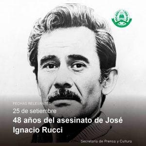 Lee más sobre el artículo 25 de septiembre – 48 años del asesinato de José Ignacio Rucci