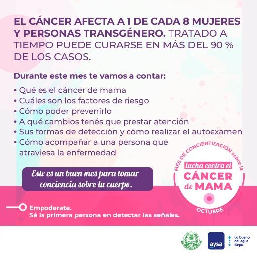 19 de octubre – Día Internacional de lucha contra el Cáncer de Mama
