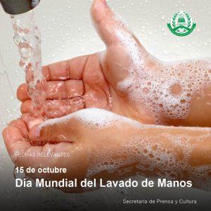 Lee más sobre el artículo 15 de octubre – Día Mundial del Lavado de Manos