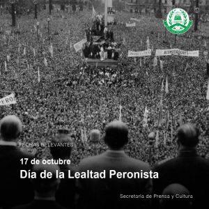 Lee más sobre el artículo 17 de octubre – Día de la Lealtad Peronista