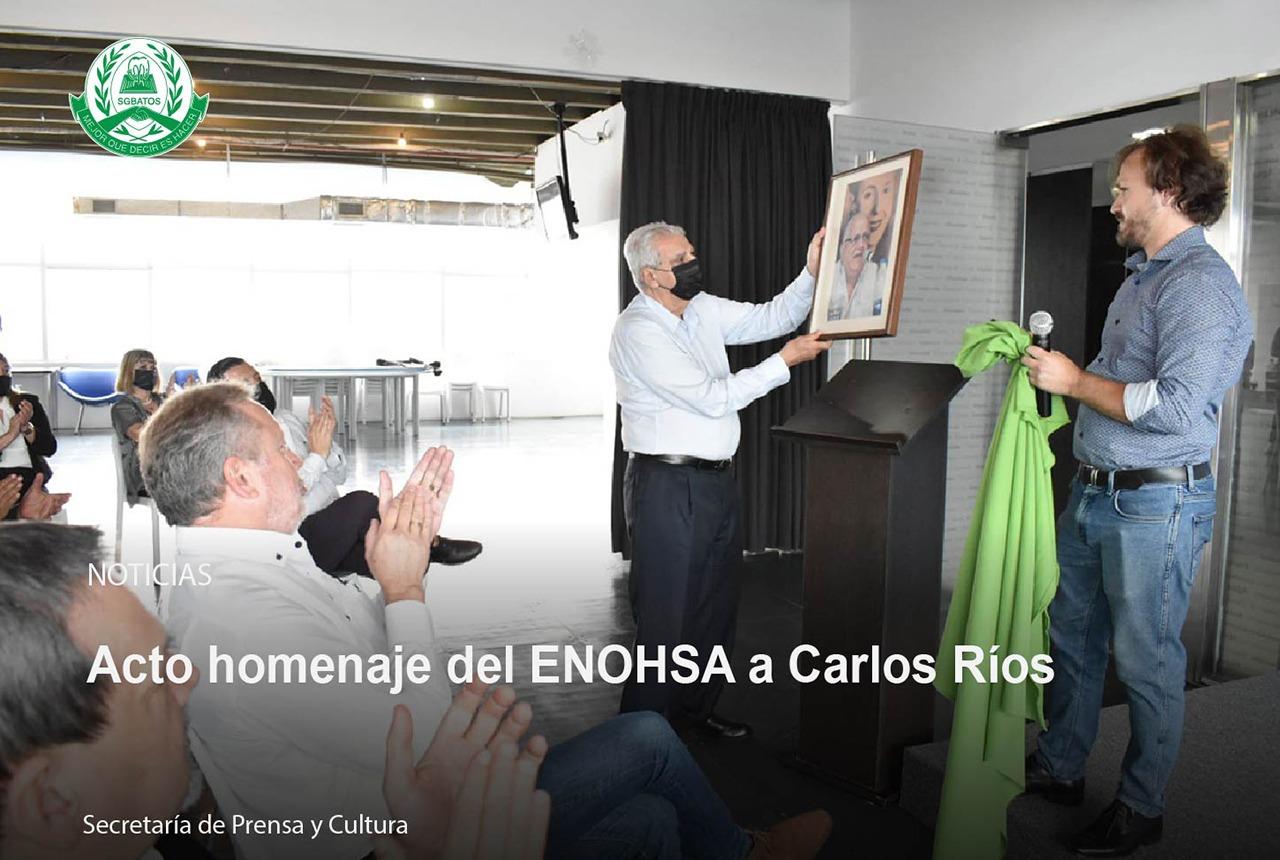 Acto homenaje del ENOHSA a Carlos Ríos