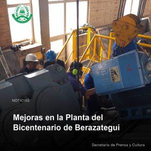 Lee más sobre el artículo Mejoras en la Planta Del Bicentenario de Berazategui